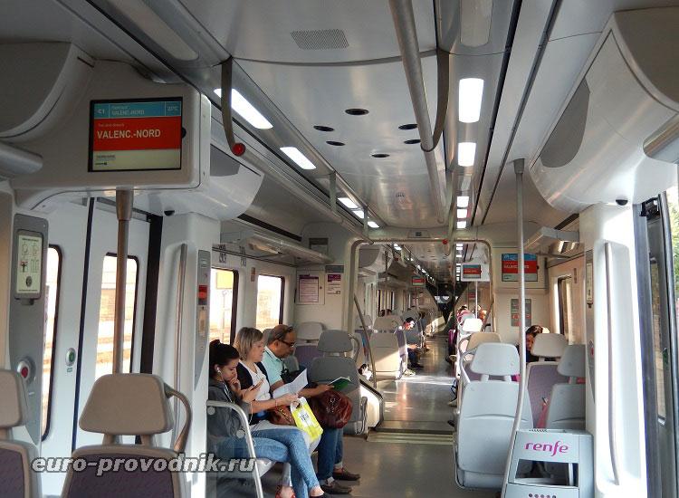 Поезд Валенсия-Гандия