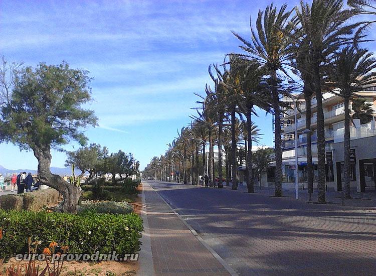 Прибрежная дорога в Кан Пастилья