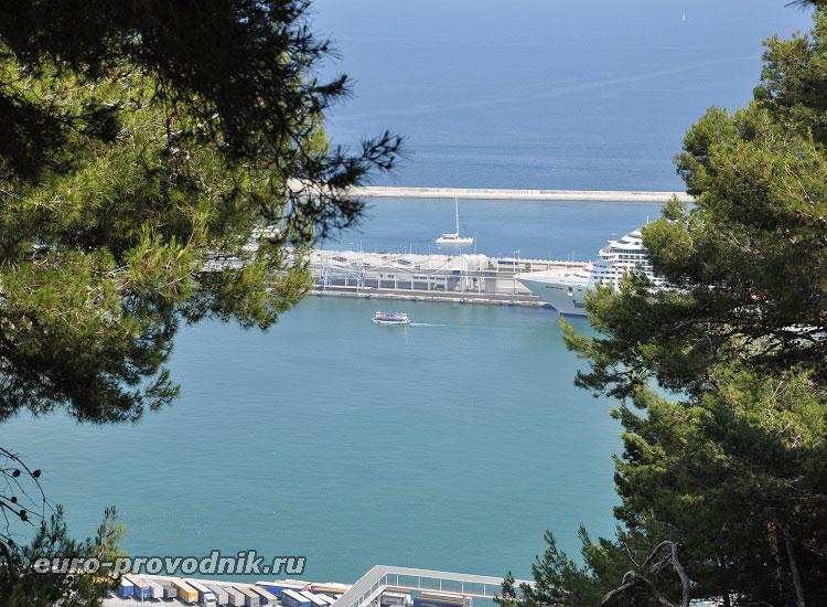 Вид на гавань с высоты Монжуик