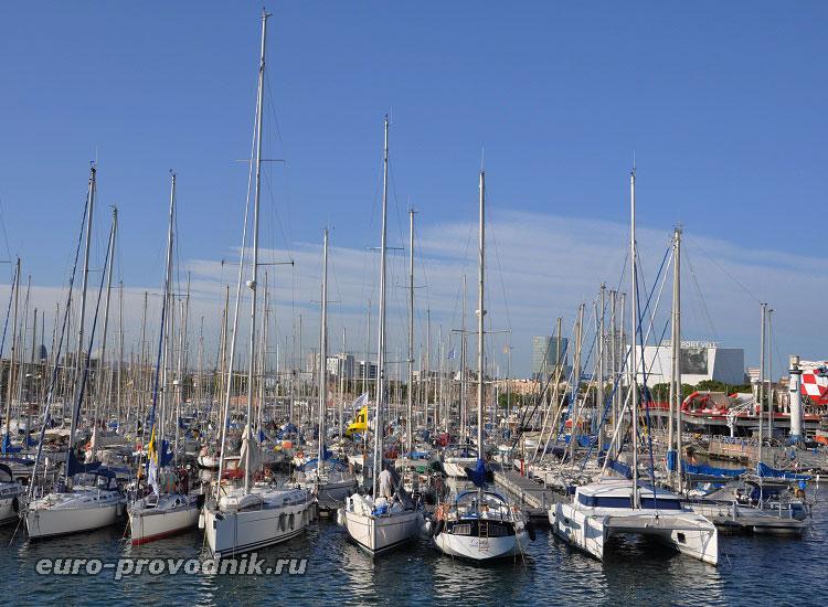 Яхтенный порт в Барселоне