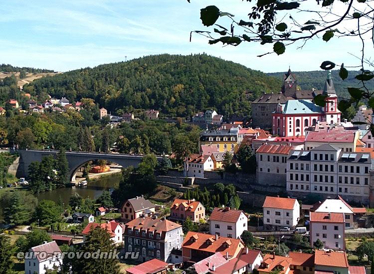 Городок Локет в Чехии