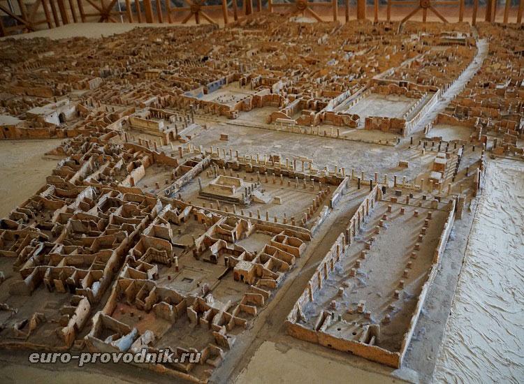 Модель раскопок Помпеев