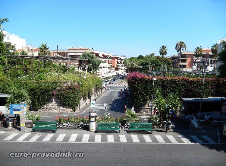 Дорога от станции в Сорренто