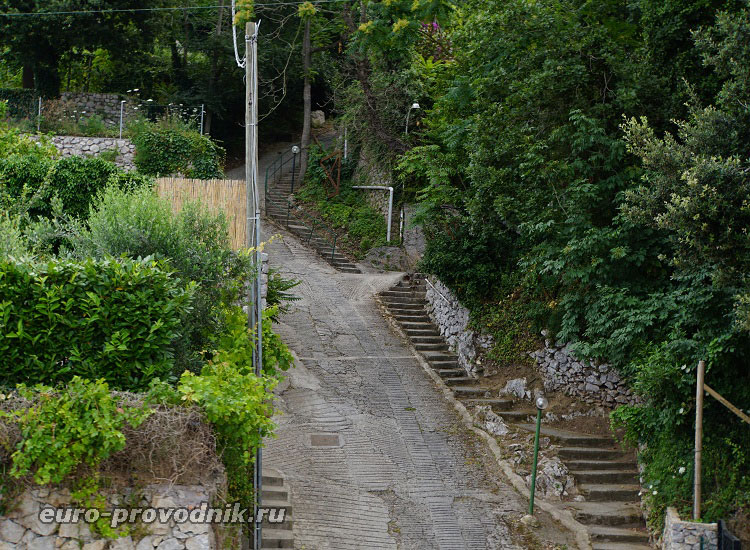 Горная тропа на Капри