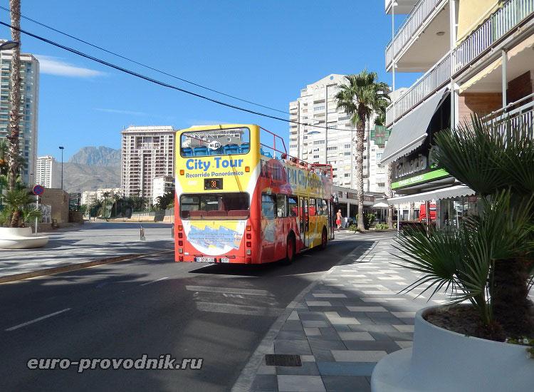 Экскурсионный автобус в Бенидорме