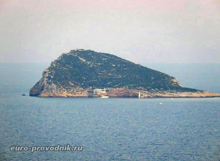 Вид на остров с горы Кала Финестрат