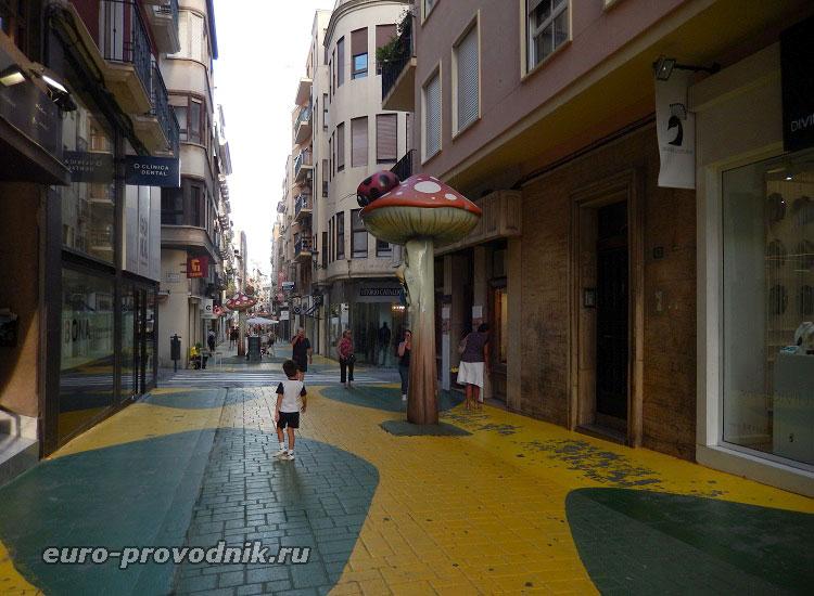 Улица с мухоморами