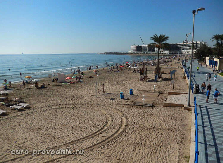 Городской пляж Аликанте