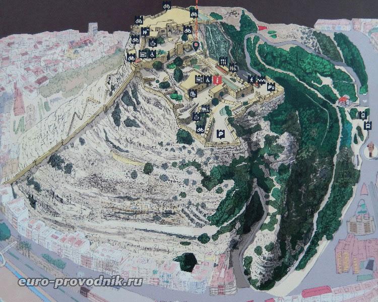 План крепости Санта Барбара