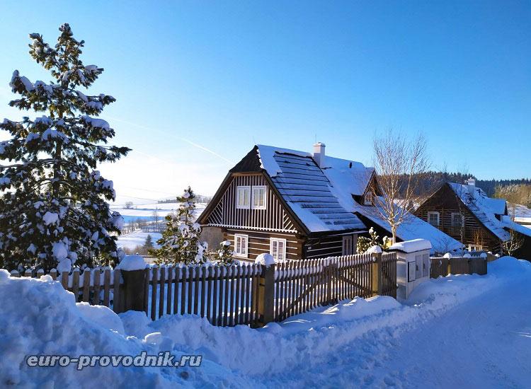 Домики в поселках Чехии