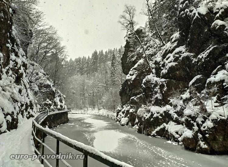 Риегрова стежка зимой
