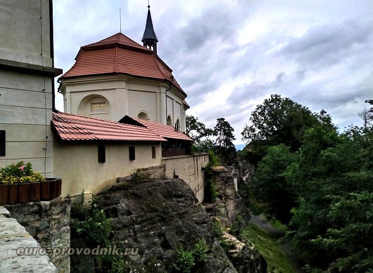 Вальдштейнский замок - вид на часовню
