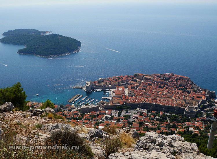 Вид на Старый Дубровник